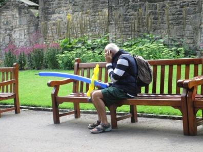 Man in Edinburgh Park