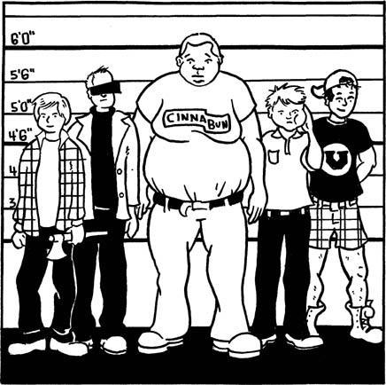 Illustration from Razorcake #37 by Brad Beshaw